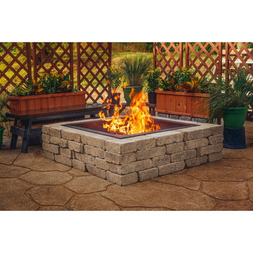 Pleasant Hearth Solid Steel Wood-Burning Fire Pit