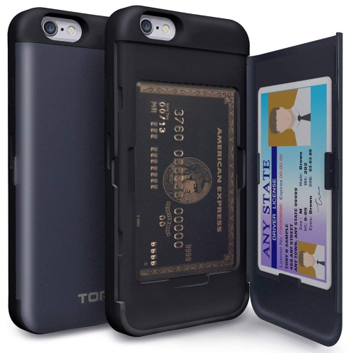 competitive price 5f55a 91d45 iPhone 6S Case, TORU [iPhone 6S Wallet Case] Protective Slim Fit Dual Layer  Hidden Credit Card Holder ID Slot Card Case with M