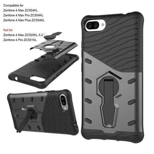 "innovative design 87999 bf303 Asus Zenfone 4 Max ZC554KL Case 5.5 "", ZUYEE ZenFone 4 Max Pro/Plus ZC554KL  Case Heavy Duty with 360 Degree Rotation Kickstand"