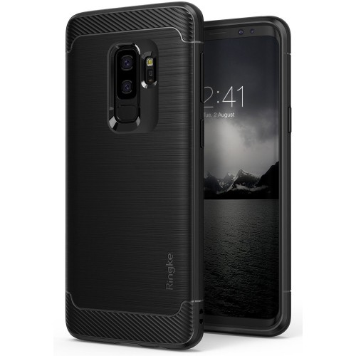 sports shoes 74e31 d2a21 Ringke Fitted Soft Shell Case for Samsung Galaxy S9 Plus - Black