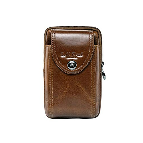 hot sale online 9ff5e 23c95 Sunmig Genuine Leather Cell Phone Case Waist Pack Belt Pouch Wallet Pocket  Purse for iphone 6s 6 plus 5s 5c Samsung Galaxy Not