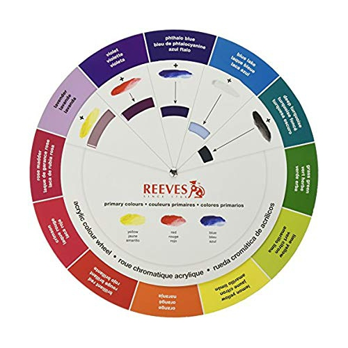 reeves color wheel acrylic paint kit crayons pencils paints