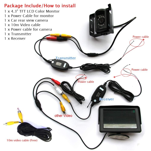 Buyee HD Backup Camera with 4 3