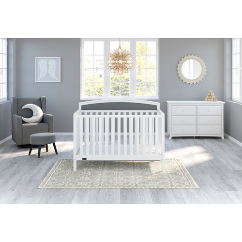Graco Finley 4 In 1 Convertible Crib Whitegrey Baby Cribs