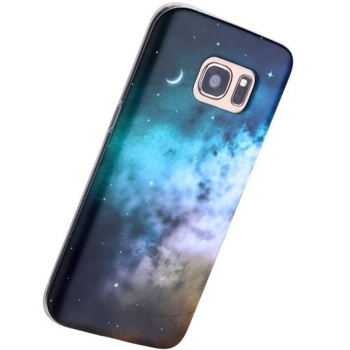 meet de311 f28d0 Samsung Galaxy S7 Edge Case Nebula,VIVIBIN Shock Absorption IMD Soft TPU  Gel Case for S7 Edge Case(5.1 inch) (071)