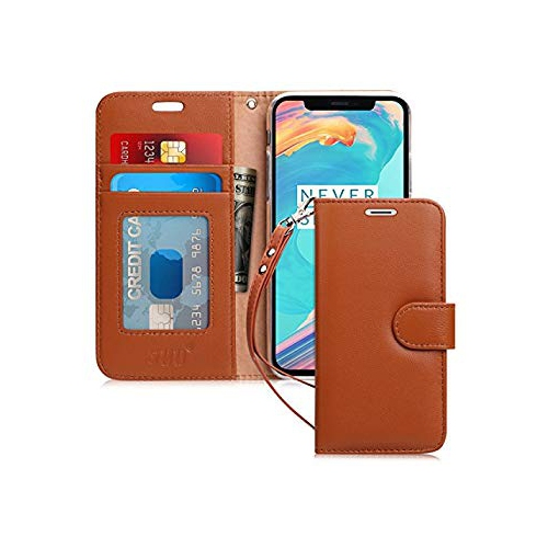 on sale 3a352 2157b iPhone X Wallet Case, iPhone X Cases, fyy Handmade Genuine Flip Folio Case  [Kickstand Feature] With ID&Credit Card Protector f