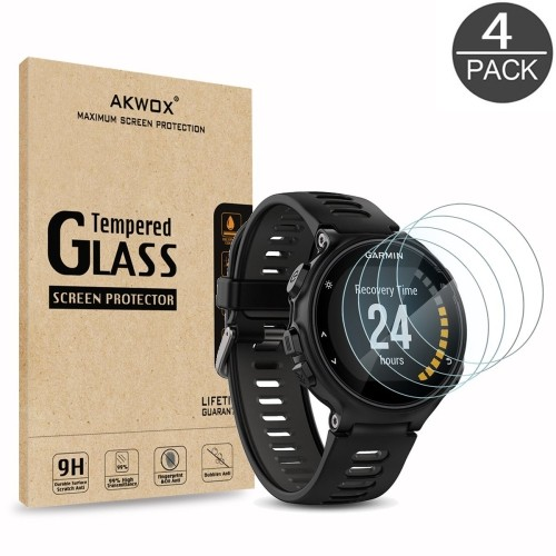 Pack Of 4 Tempered Glass Screen Protector For Garmin Forerunner