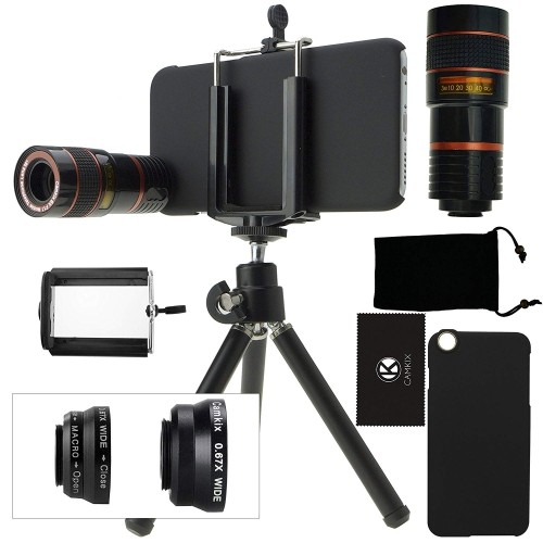 outlet store f6a81 c6b19 iPhone 6 / 6S Camera Lens Kit including an 8x Telephoto Lens / Fisheye Lens  / 2 in 1 Macro Lens and Wide Angle Lens / Mini Tri