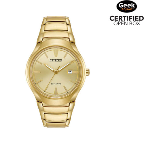 6f6c46b22650 Citizen Paradigm 40mm Men s Solar Powered Casual Watch - Gold Champagne -  Open Box - Online Only
