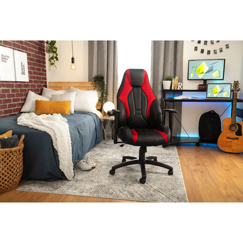 Peachy Z Line Designs Xtremecomfort Ergonomic Executive Gaming Chair Black Red Dailytribune Chair Design For Home Dailytribuneorg