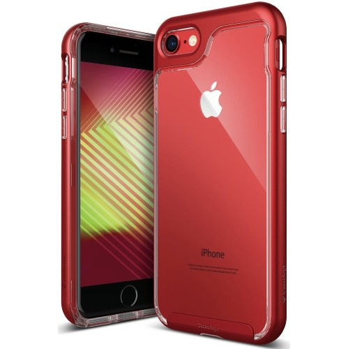 Caseology Skyfall Series Iphone 7 8 Cover Case With Clear Slim Protective For Apple Iphone 7 2016 Iphone 8 2017 Red Best Buy Canada
