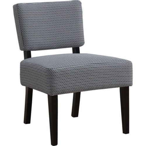 Accent Chair Light Dark Blue Abstract Dot Fabric Accent Chairs