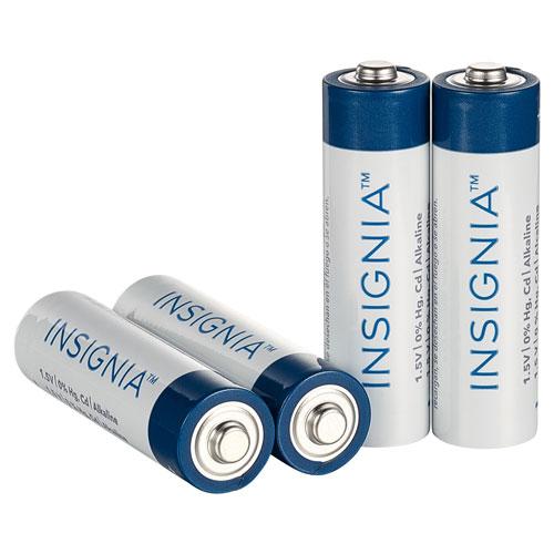 Piles alcalines AA d'Insignia - Paquet de 4 - Seulement chez Best Buy