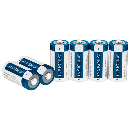 Insignia CR123 Lithium Batteries - 6 Pack - Only at Best Buy