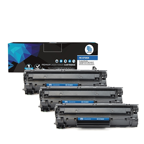 Gotoners™ 3PK HP New Compatible CF283X (83X) High Yield Black Toner for HP  LaserJet Pro MFP M201DW/M201N/M225DN/M225DW