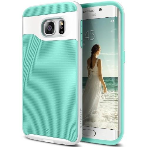 half off f9ae0 8f0e7 Galaxy S6 Edge Case, Caseology [Wavelength Series] Slim Dual Layer  Protective Textured Grip Corner Cushion Design for Samsung