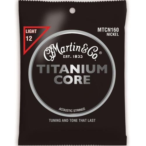 Martin Titanium Core Acoustic Guitar Strings - Light
