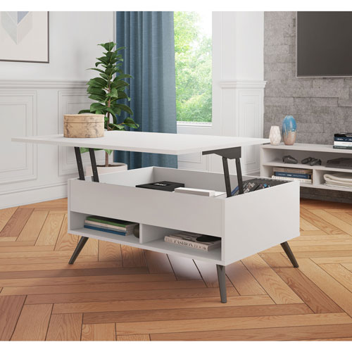 Lift Coffee Table.Small Space Modern Rectangular Coffee Table With Lift Top Storage Bark Grey