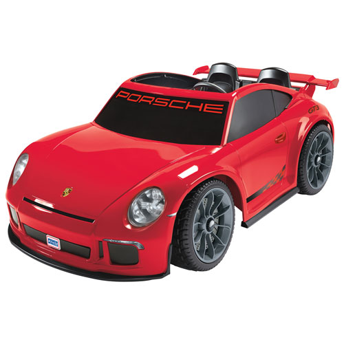 power wheels porsche gt3 ride on toy red power wheels powered ride on toys best buy canada. Black Bedroom Furniture Sets. Home Design Ideas