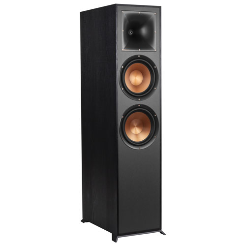 Klipsch R820F 150-Watt 2-Way Tower Speaker - Single - Black
