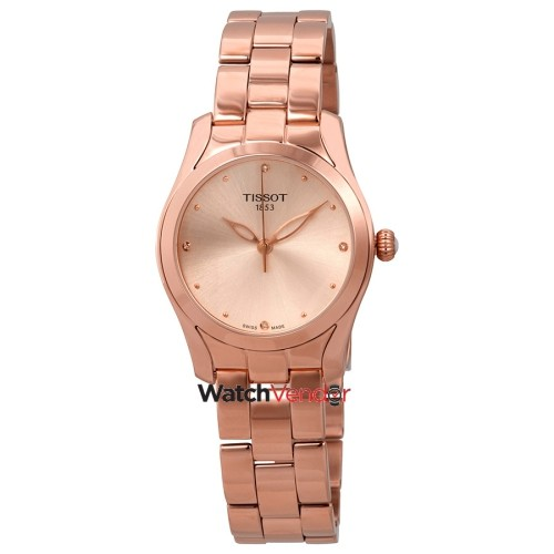 Tissot T-Wave Rose Diamond Dial Ladies Watch TIST1122103345600
