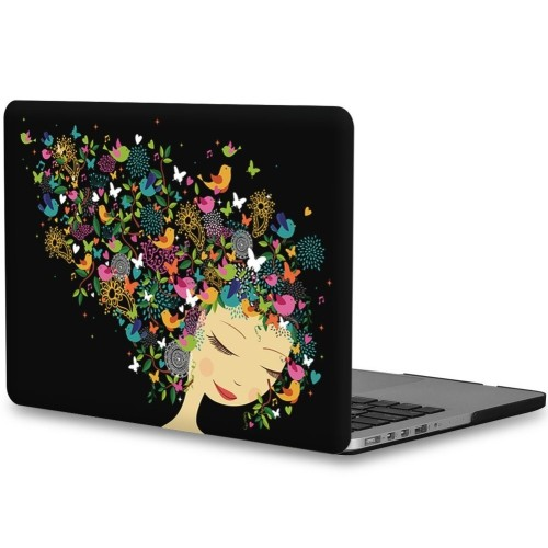timeless design 5a5b7 c6e00 Topideal Artistic Design Rubberized Silky-Smooth Soft-Touch Hard Shell Case  Cover for 13-inch MacBook Pro 13.3