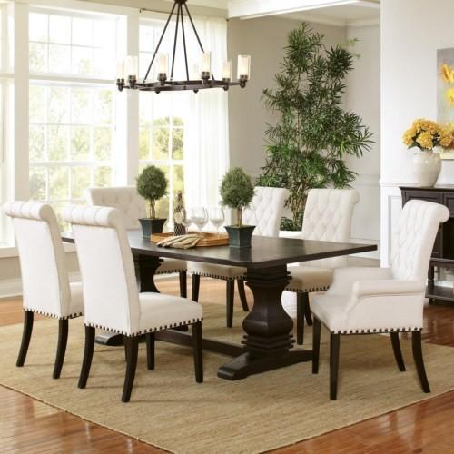 Coaster Parkins Pedestal Table And Chair 7 Piece Set