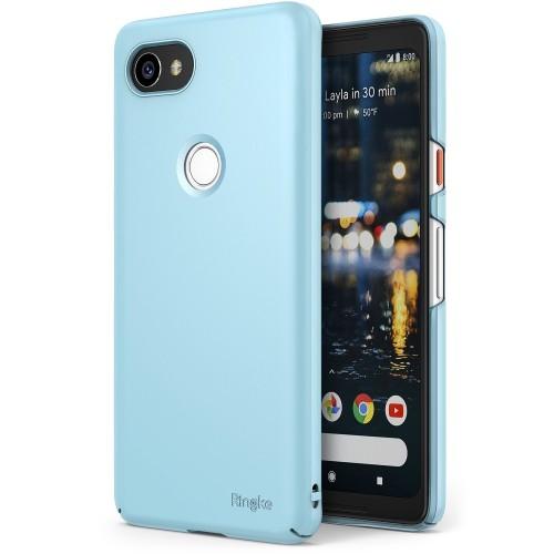 brand new a950c f1e14 Google Pixel 2 XL Case, Ringke SLIM Snug-Fit [Tailored Cutouts] Lightweight  Scratch Resistant PC Hard Skin Cover - Sky Blue