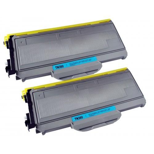 2PK High Yield TN360 TN-360 Toner Cartridge For Brother TN330 DCP-7040 DCP-7045N