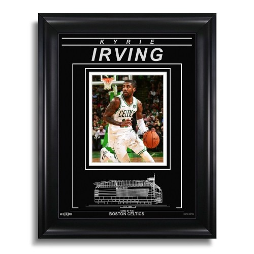 15a4173444a Kyrie Irving Boston Celtics Engraved Framed Photo - Action   Other ...