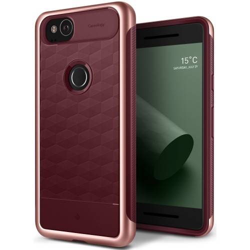 timeless design f30f1 1bb67 Caseology Parallax Series Google Pixel 2 Cover Case with Design Slim  Protective for Google Pixel 2 (2017) - Burgundy