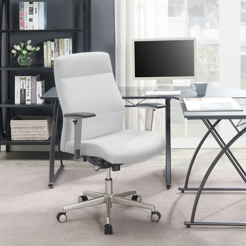 La Z Boy Furniture Ergonomic High Back Bonded Leather Task Chair White Online Only