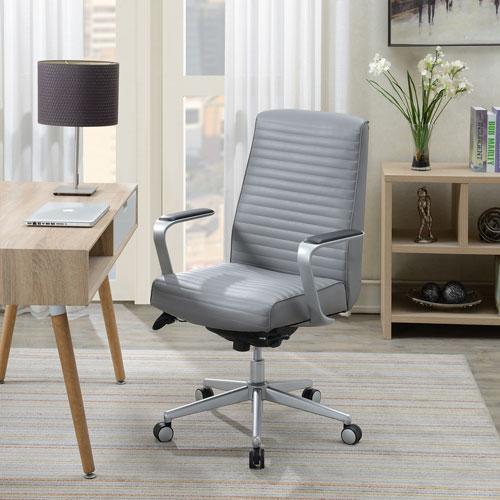 Strange La Z Boy Furniture Ergonomic High Back Bonded Leather Executive Chair Grey Beatyapartments Chair Design Images Beatyapartmentscom