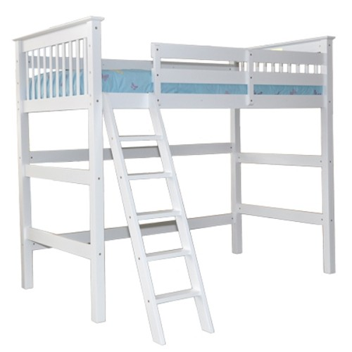 twin tall loft bed with angle ladder beds bed frames best buy canada. Black Bedroom Furniture Sets. Home Design Ideas