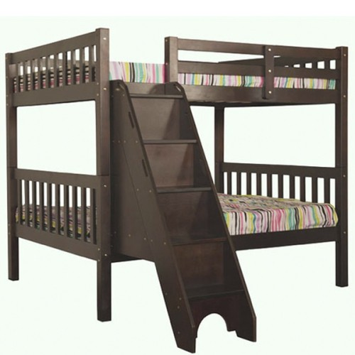 Stairs Bunk Bed Full Over Full With Trundle Beds Bed Frames