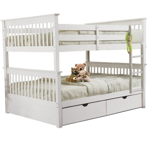 Sydney Full Over Full Bunk Bed With Trundle Beds Bed Frames