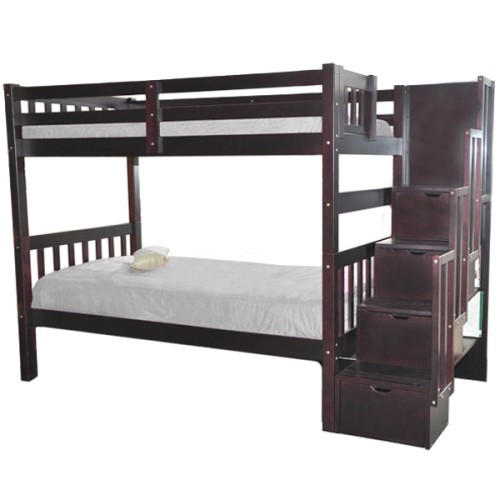 Stairway Twin over Twin Bunk Bed : Beds & Bed Frames - Best Buy Canada