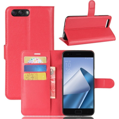 reputable site a272b b59e4 Leather Wallet Flip Case For Asus Zenfone 4 Max Zc520kl - Red