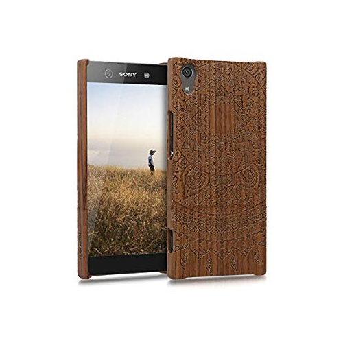 the best attitude 3df48 2208e kwmobile Sony Xperia XA1 Ultra Wood Case - Non Slip Natural Solid Hard  Wooden Protective Cover for Sony Xperia XA1 Ultra