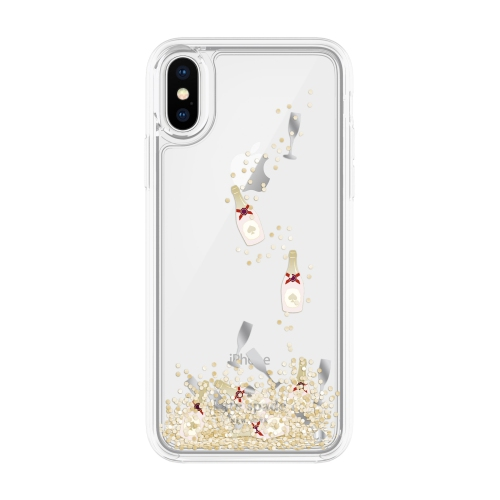 d9c08284c7 Kate Spade York Cell Phone Case iPhone X - Champagne Bottle Glass Confetti Gold  Glitter None   iPhone X