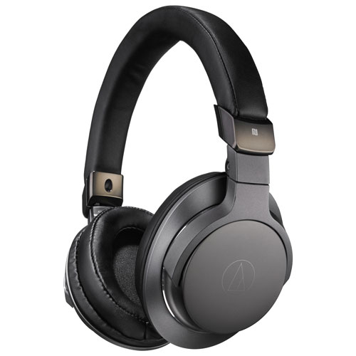 bad5670c284 Audio Technica ATH-SR6BT Over-Ear Sound Isolating Bluetooth Headphones -  Black   Over-Ear Headphones - Best Buy Canada