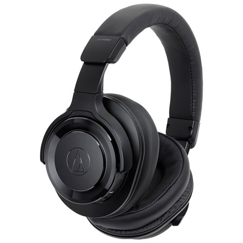Audio Technica ATH-WS990BT Over-Ear Noise Cancelling Bluetooth Headphones - Black