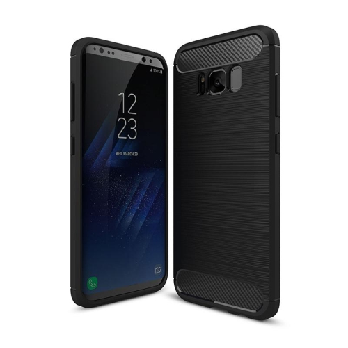 promo code 681d2 5789a PANDACO Black Brushed Metal Case for Samsung Galaxy S8+