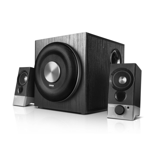 S2000PRO Wood Grain Speaker Stands for Home Theater Edifier SS02 S1000DB