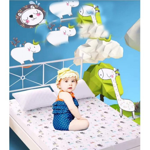 King Size Cotton Comfortable Waterproof Mattress Pad For Crib And