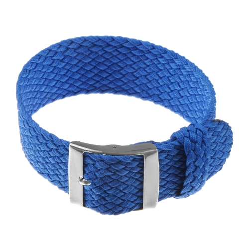 4d74f7faddc8d StrapsCo Perlon Braided Nylon Watch Band Strap - 20mm Blue : Watch ...