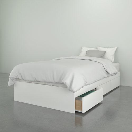 Nexera Contemporary Storage Bed Twin, White Twin Storage Bed Canada