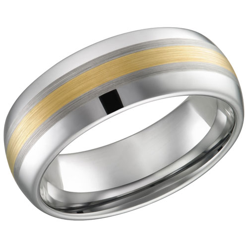 Quality Titanium 14k Inlay Accent Czs Band Ring Size 7.00 Fine Jewelry Gifts Women Her Superior In