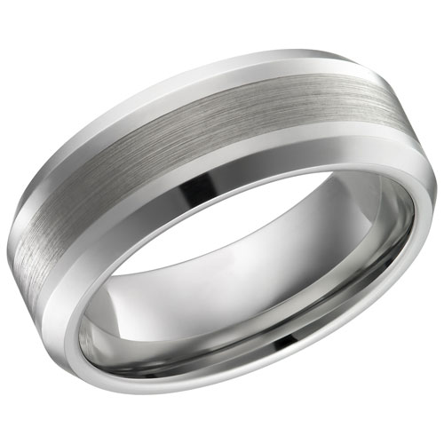 Men's Ring in Silver & Tungsten - Size 10