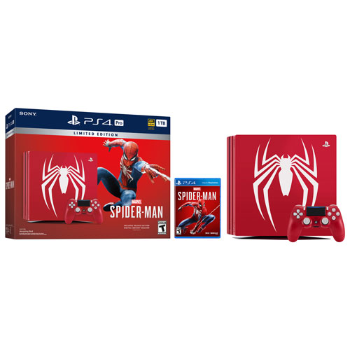 PS4 Limited Edition Marvel�s Spider-Man PlayStation 4 Pro 1TB Bundle